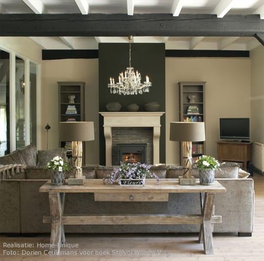 Klassiek interieur woontrendz for Landelijk wonen ideeen
