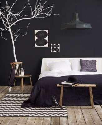 Slaapkamer zwart wit en hout woontrendz for Photo deco slaapkamer meisje