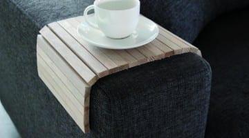 Flexibel armleuning dienblad hout merk woood