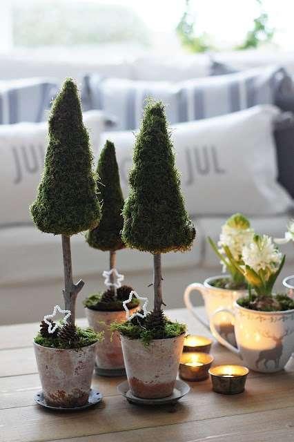 Kerstboom van mos woontrendz - Selbstgemachte weihnachtsdeko ...