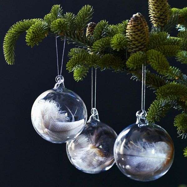 Kerstballen Met Veertjes Woontrendz