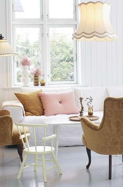 Retro klassieke woonkamer