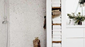 Badkamer met mozaiektegels
