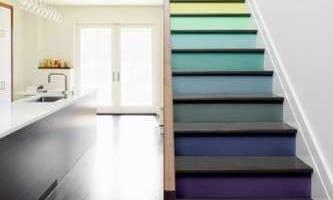 kleurenpalet op de trap