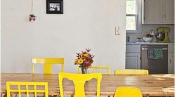 Gele eetkamerstoelen