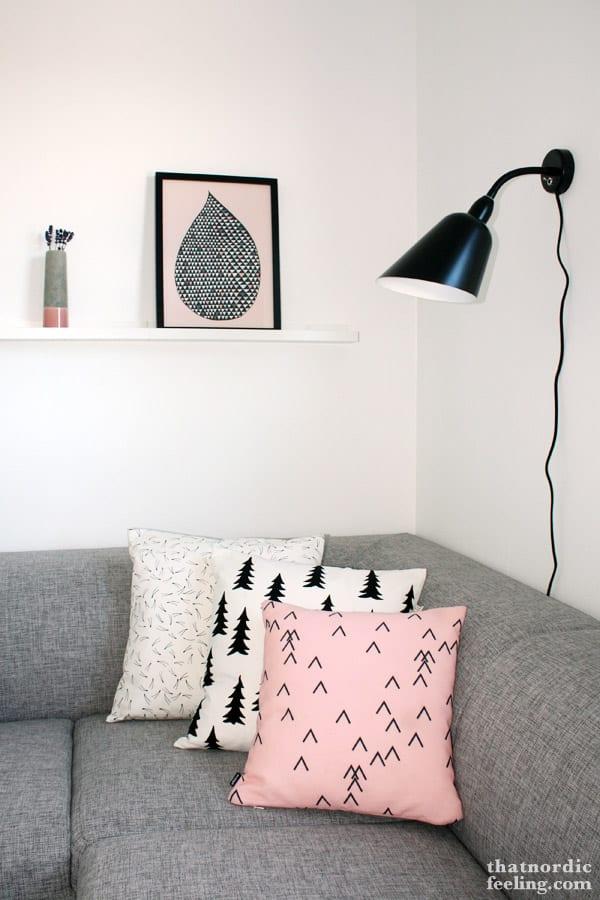Zwart wit met roze