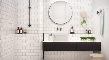 Badkamers om bij weg te dromen