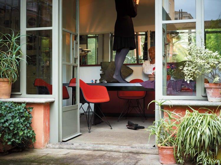 Vitra Eames Plastic Chair Armchair rood