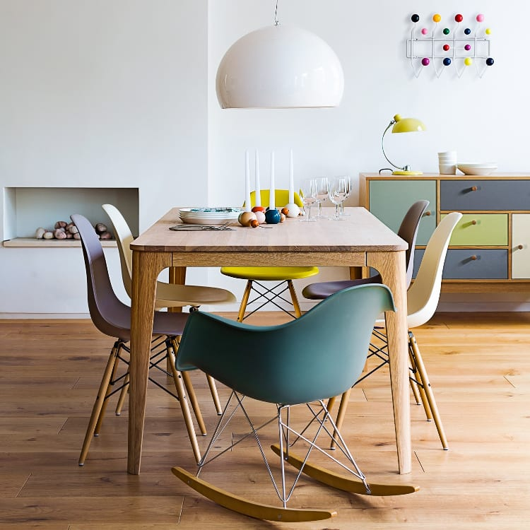 Vitra Eames RAR Rocking Chair groen