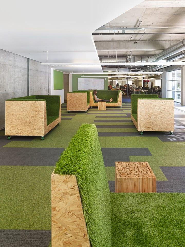 Groene kantoorruimte
