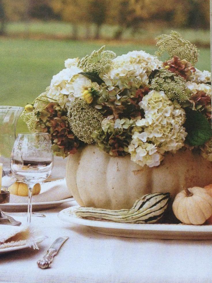 Klassieke pompoen met bloemen