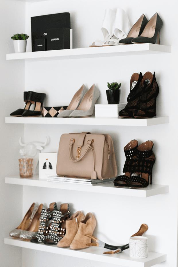 Schoenen opgeruimd