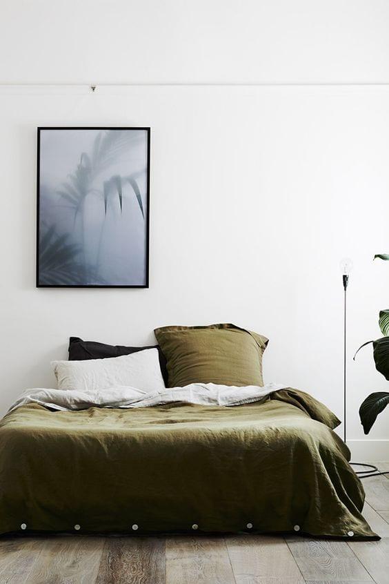 Groen in de slaapkamer