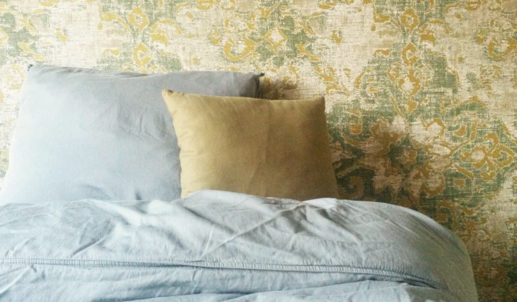 Grijs groene slaapkamer