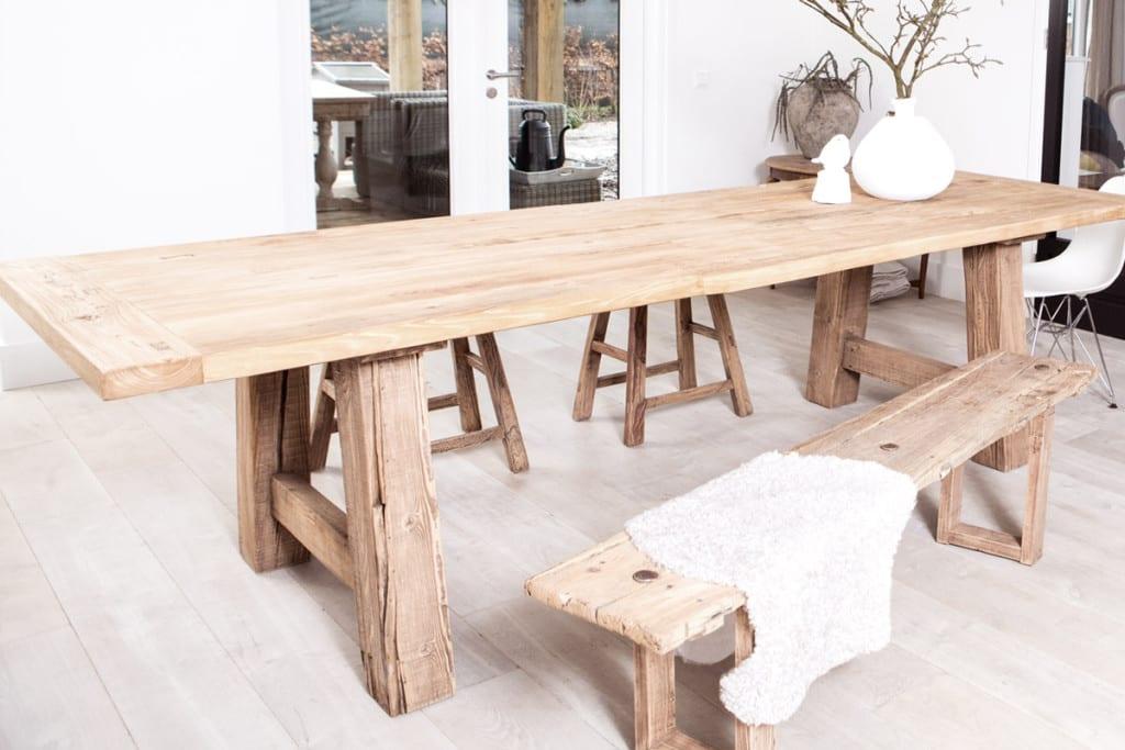 Oud van hout tafel