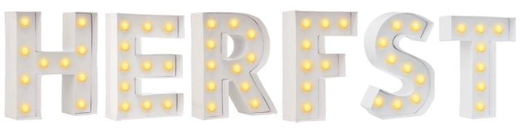 Letterlampen Hema