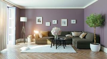 Warme woonkamer met sfeer