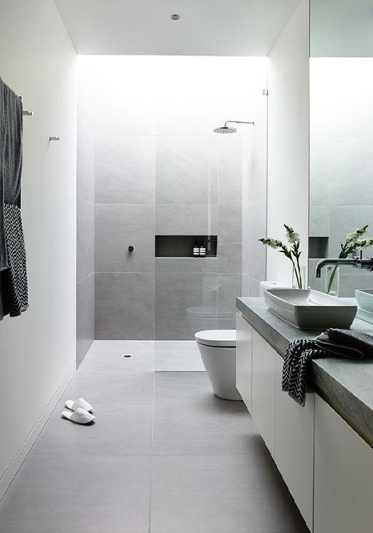 Badkamer modern met natuursteen