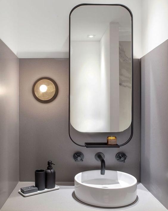 Spiegel badkamer afgeronde hoeken
