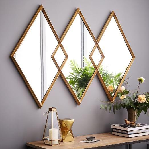 Spiegel in ruitvorm