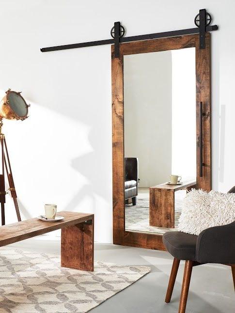 Spiegel als schuifdeur