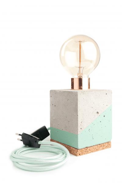 Tafellamp met beton