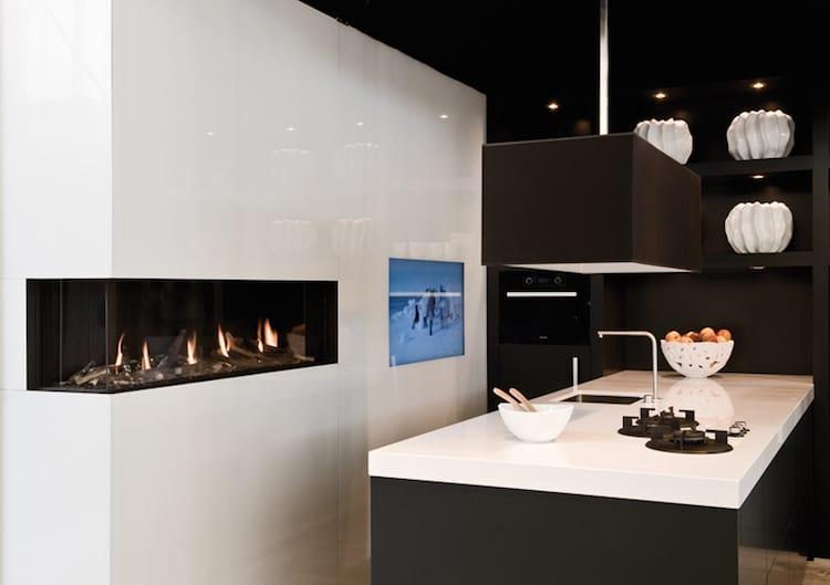 Gashaard in een moderne keuken