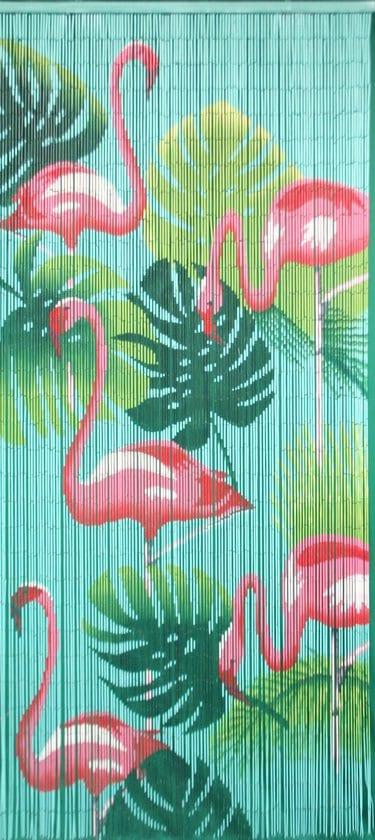 Flamingo vliegengordijn