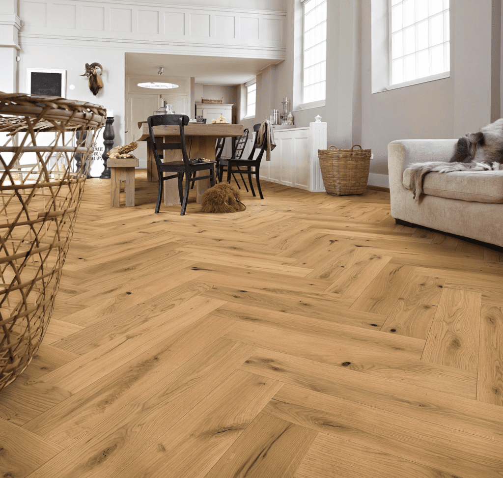 Visgraat vloer landelijke stijl