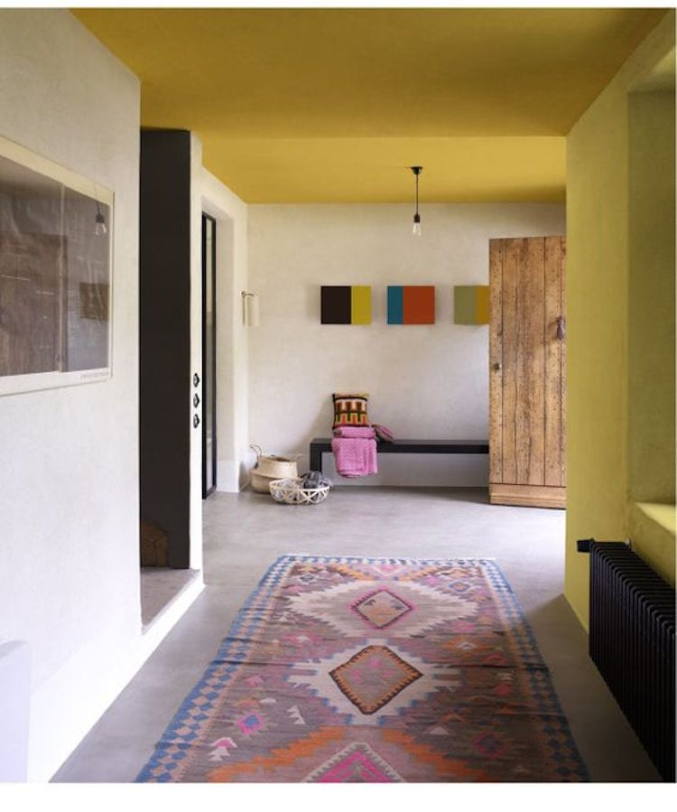 Geel plafond