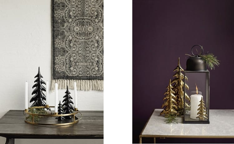 Keramieke kerstboom goud en zwart VTwonen