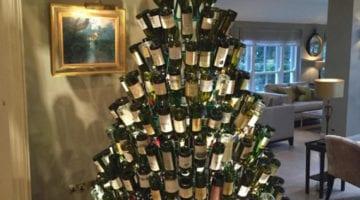 DIY: Kerstdecoratie van wijnflessen