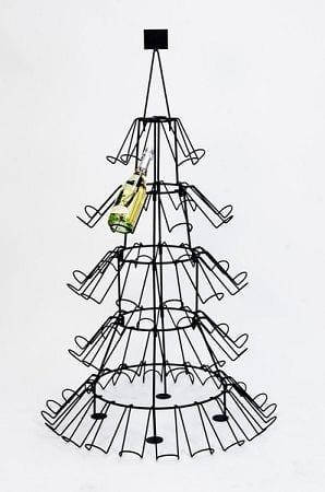 Wijnrek kerstboom wijnflessen