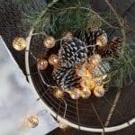 Kerstverlichting lichtsnoer metalen balletjes