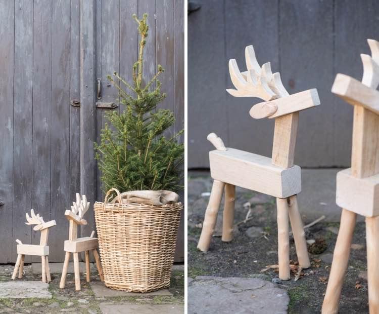 Rendieren van hout - houten kerstdecoratie