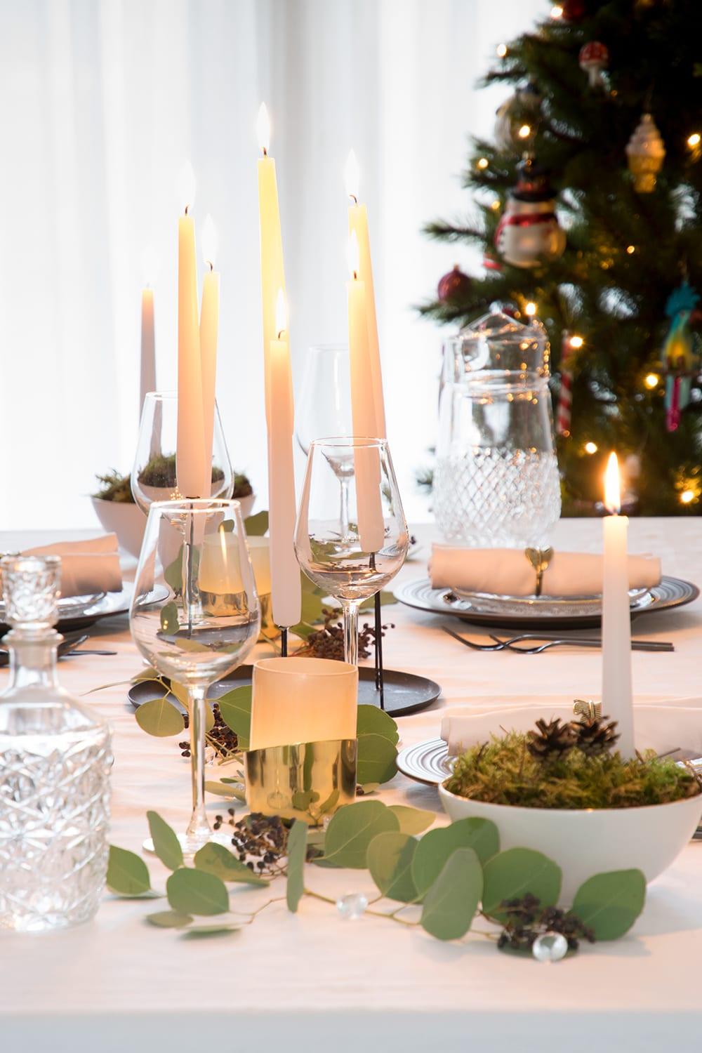 Kerstversiering eettafel