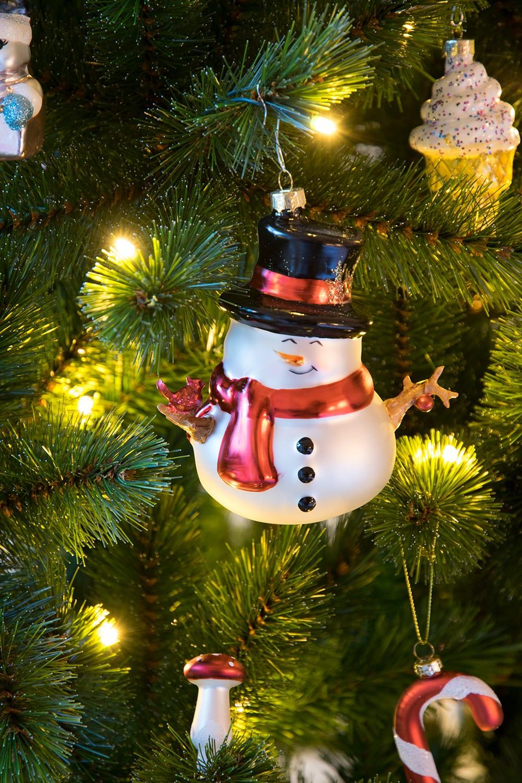 Kerstbal figuur sneeuwpop