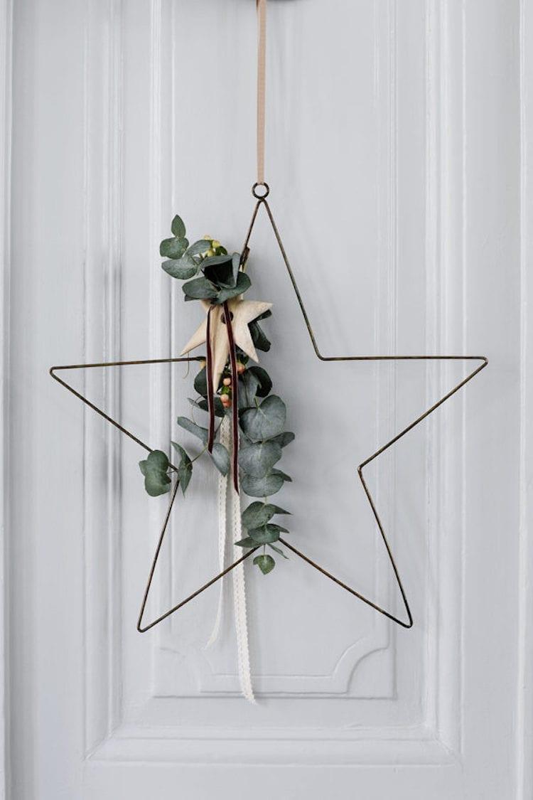 Kerstkrans Scandinavische stijl