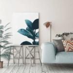 minimalistic poster plant