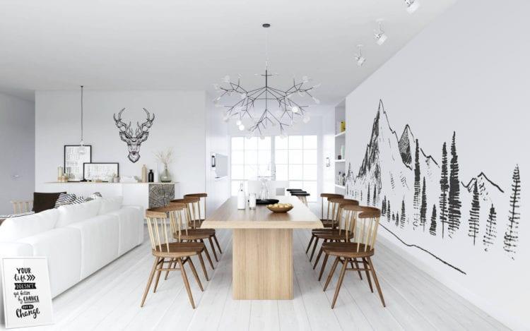 Fotobehang Scandinavische stijl