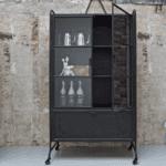Vitrinekast storage metaal zwart