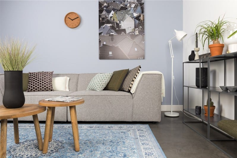 Gewaagde kleuren woonkamer