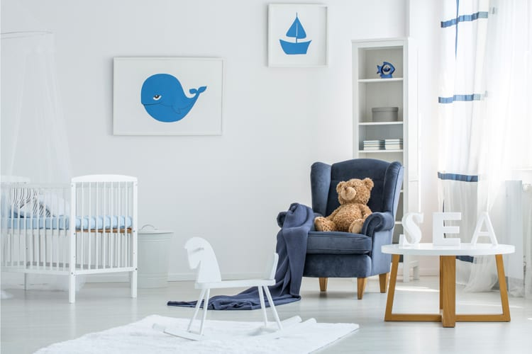 Posters jongenskamer blauw en wit