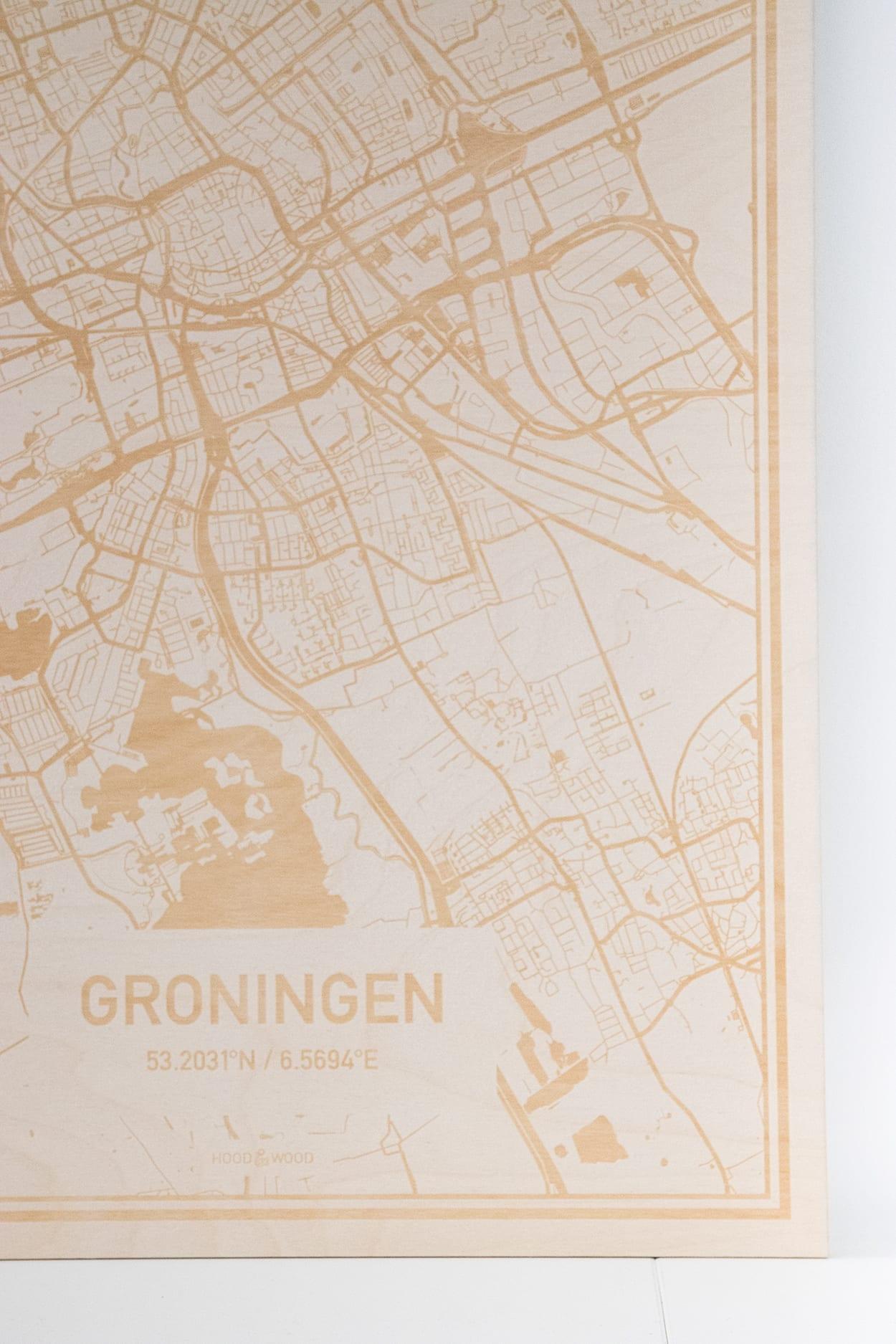 Woontrendz houten kaart Groningen