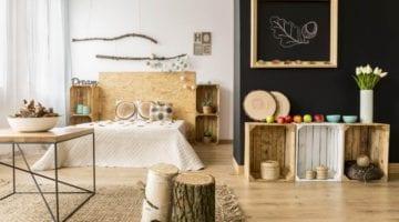 DIY bijzettafel - houten fruitkastjes nachtkastje en bijzettafel en kastje
