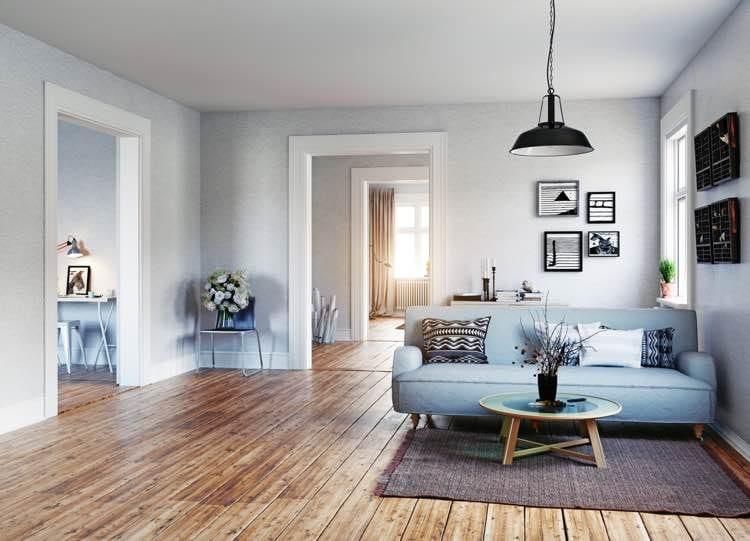Laminaat vloer woonkamer