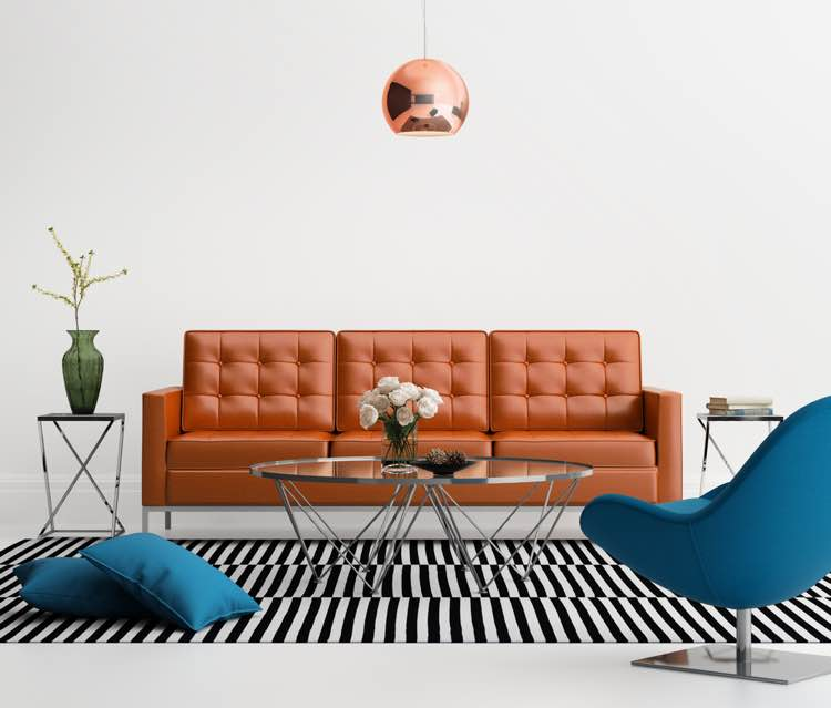 Chesterfield bank woonkamer