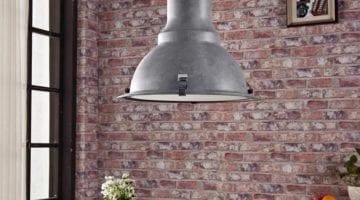 beton grijze metalen hanglamp percival