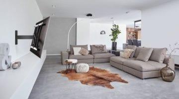Draaibare tv beugel Vogel's woonkamer
